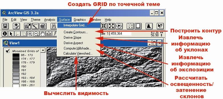 Рис. 54. Меню категории команд «Surface – Поверхность»