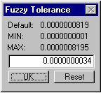 Рис. 84. Диалоговое окно «Fuzzy Tolerance – Плавающий допуск»