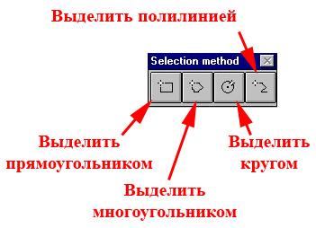 Рис. 89. Панель «Selection Method – Методы выделения»