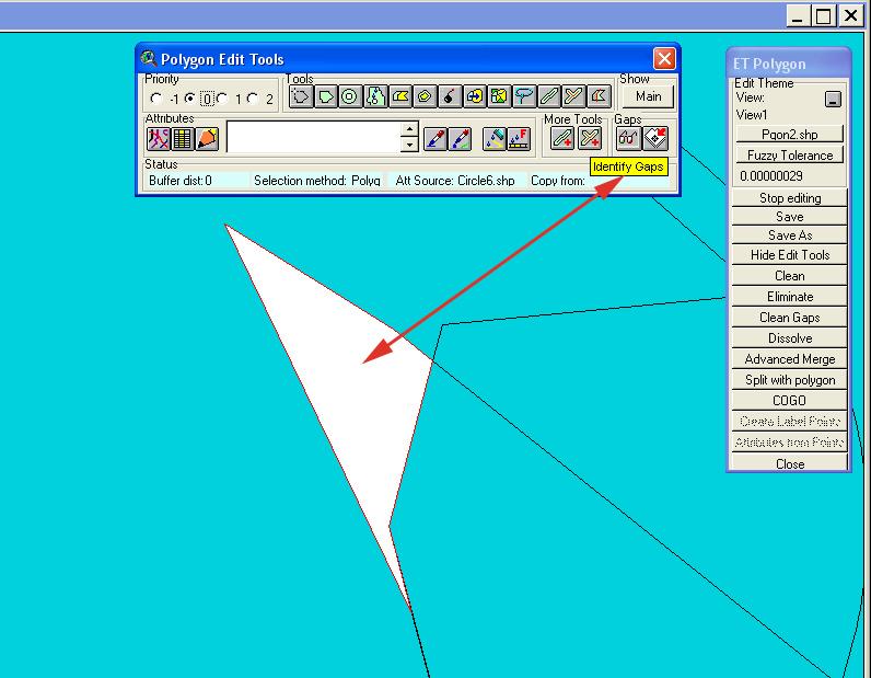 Рис. 119. Пример результата работы опций «Identify Gaps – Распознать промежутки» и «Zoom to Gap – Масштабировать промежутки». После осуществления операции распознания промежутков они обрамляются красной линией