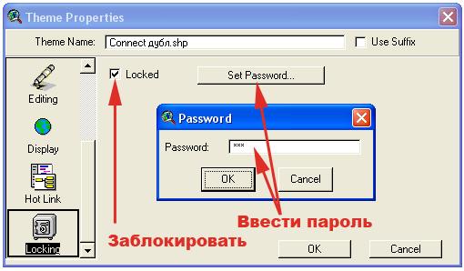 Рис. 163. Менеджер свойств темы в режиме функции «Locking – Блокировать»