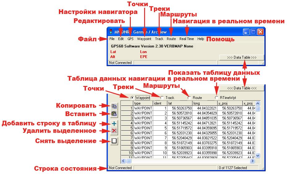 Рис. 236. Панель управления DNR-Garmin