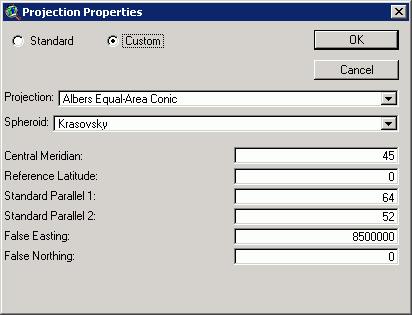 Рис. 249. Последовательность действий при привязке карты с помощью Image Warp. Шаг 3 – настройка проекции