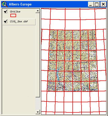 Рис. 263. Каталог цветоделенных топографических карт масштаба 1:200000 для зоны О38, созданный с помощью расширения «Image-Tools»