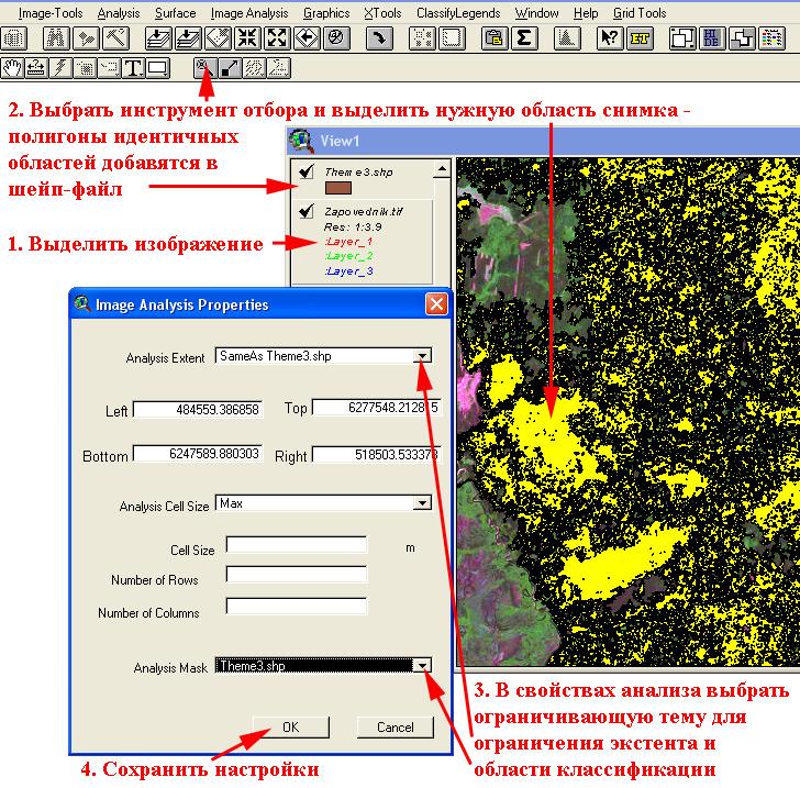 Рис. 316. Алгоритм настройки классификации изображения по ограничивающей теме