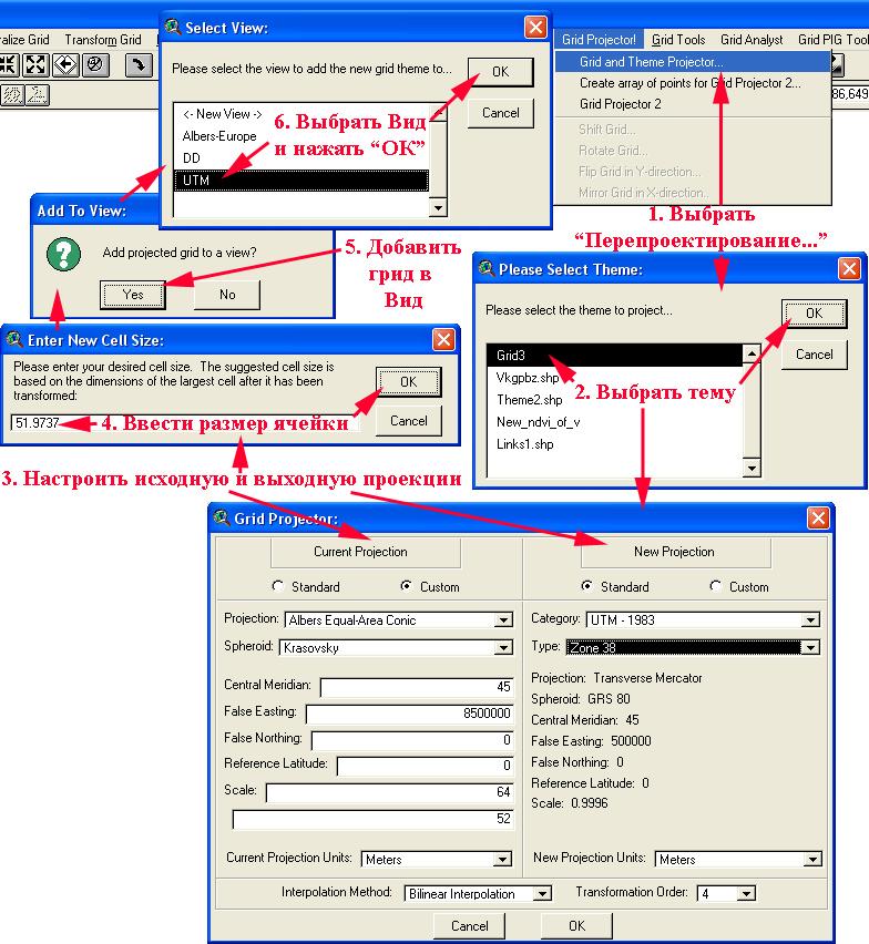 Рис. 326. Перепроектирование GRID-темы с помощью расширения Grid and Theme Projector v.2