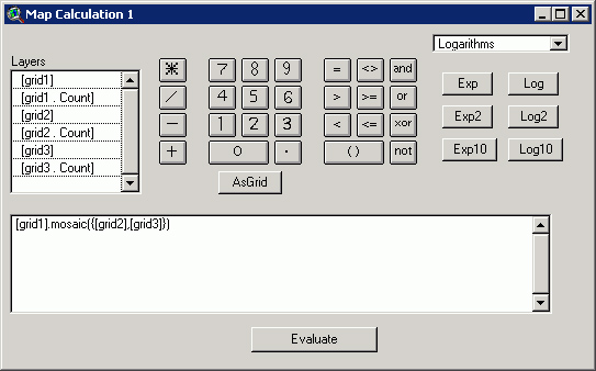 Рис. 330. Ввод значений в калькулятор карты для склеивания GRID-тем