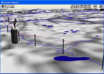 Рис. 416. Построение модели ЛЭП в 3D-Analyst