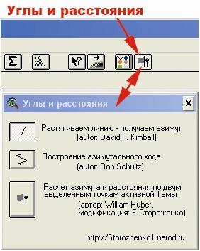 Рис. 438. Кнопка и окно расширения «Углы и расстояния»