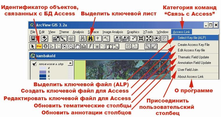Рис. 439. Кнопки и меню категории команд расширения «Связь с Access»