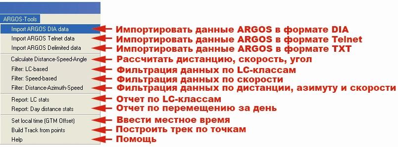 Рис. 443. Меню расширения «Argos tools»
