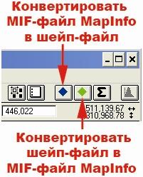 Рис 460. Кнопки расширения «Mapinfo conversion»