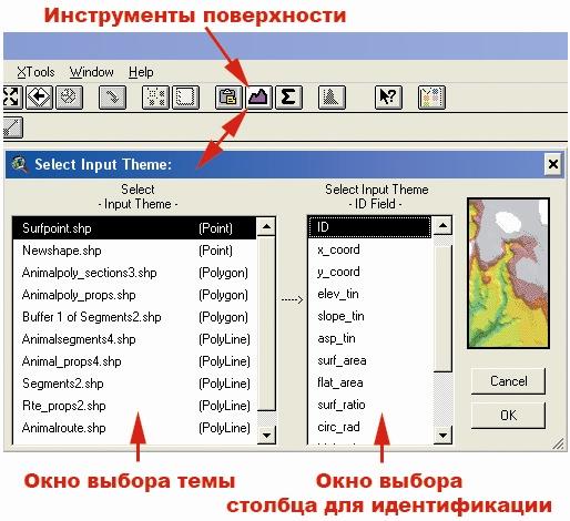 Рис. 462. Кнопка и окно расширения «Инструменты поверхности»