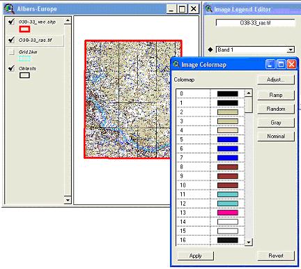 Рис. 258. Карта цветов, поддерживаемая расширением «Transparent Legend»