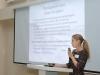 Александра Хлопотова на конференции