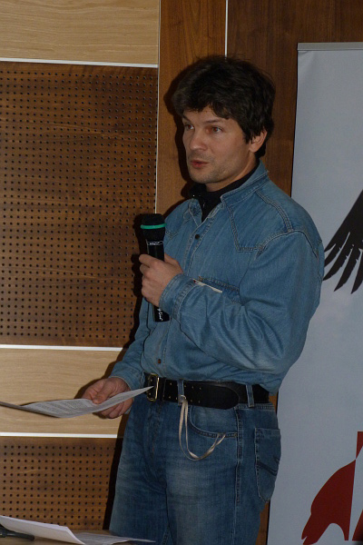 Игорь Карякин с докладом о подорлике в России