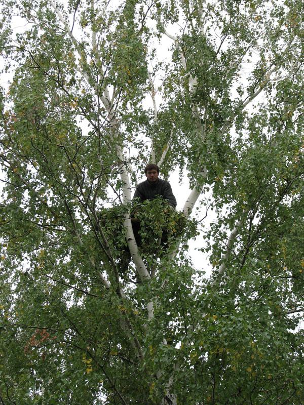 Алексей Левашкин на платформе. Фото И. Гучева