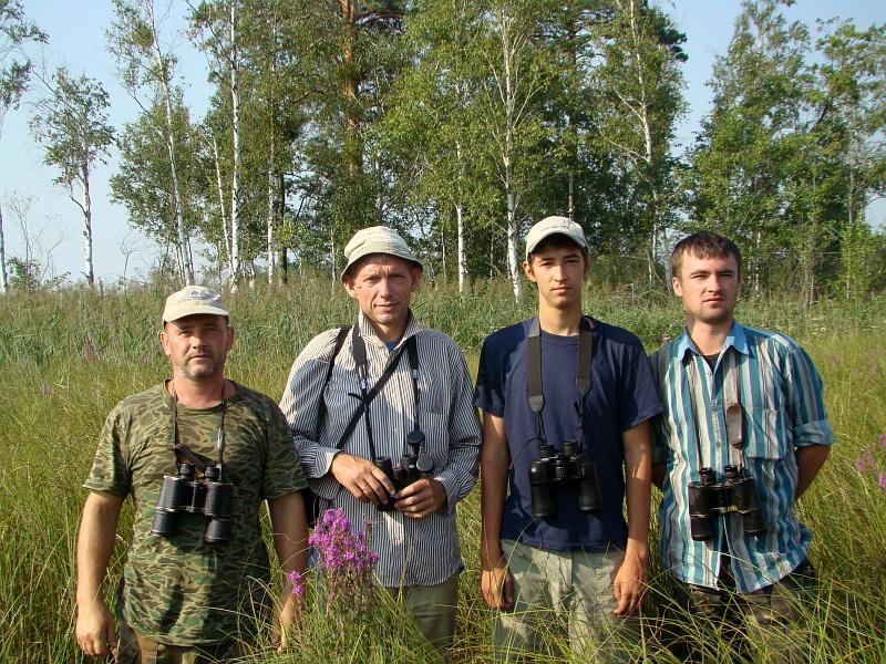 Участники экспедиции (слева направо): Сергей Домашевский, Валерий Домбровский, Николай Скирпан и Михаил Франчук