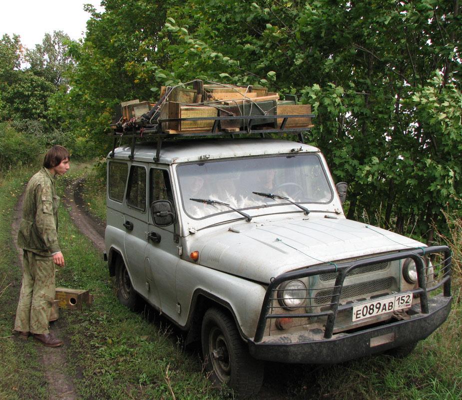 Развоз гнездовых ящиков по точкам установки. Фото И. Карякина