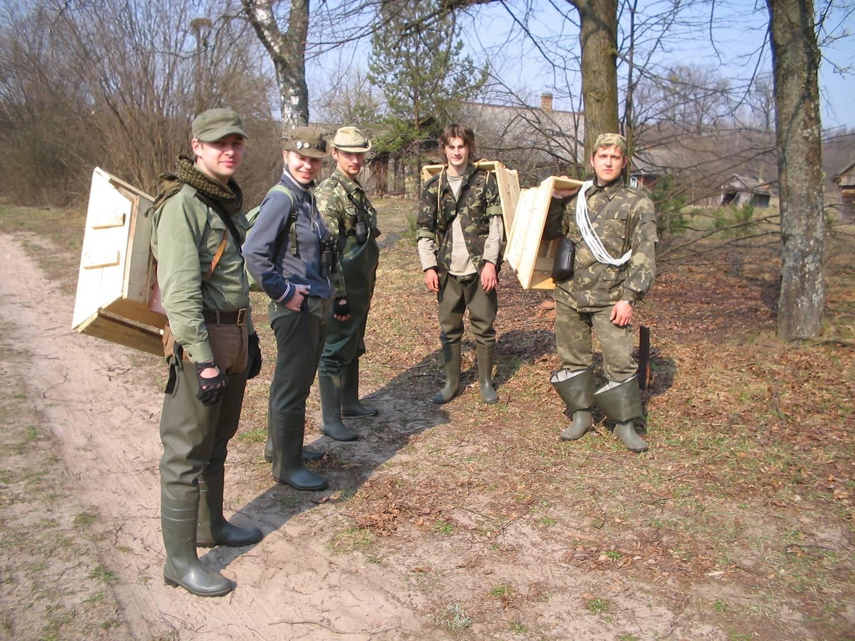 Группа отправляется на болото. Автор Дмитрий Харкович