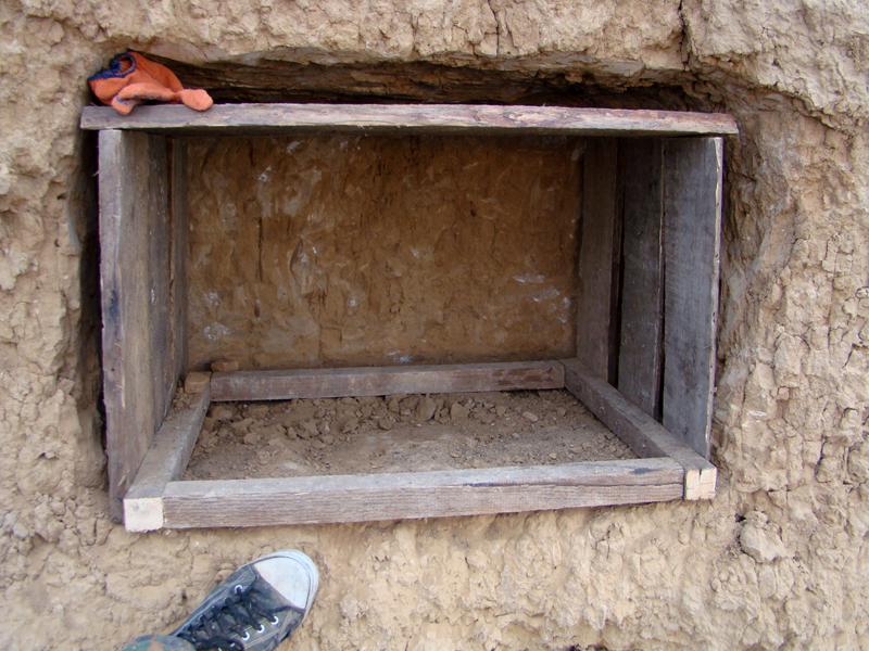 Для укрепления некоторых ниш использовали ящики