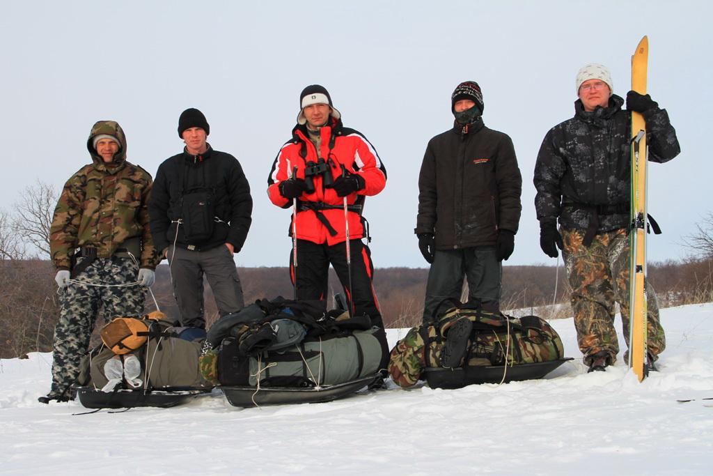 Участники экспедиции (слева направо): Миронов Павел, Тимошенко Никита, Корепов Михаил, Стрюков Станислав, Гужов Александр