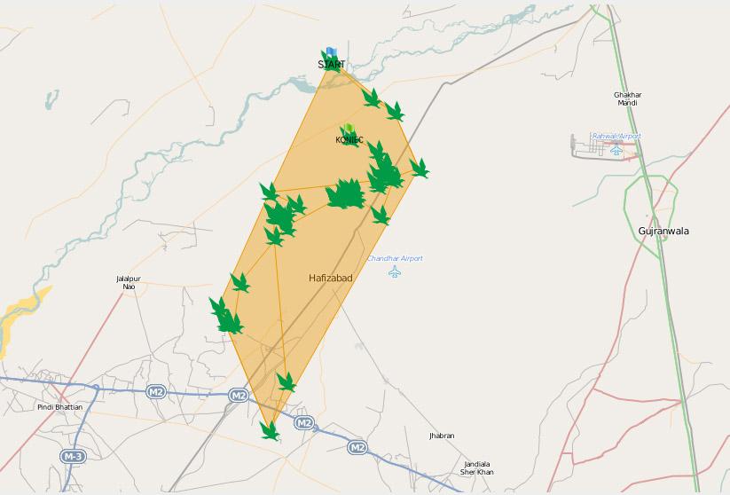 Район перемещений Завы: 29 сентября - 8 октября 2013 г.