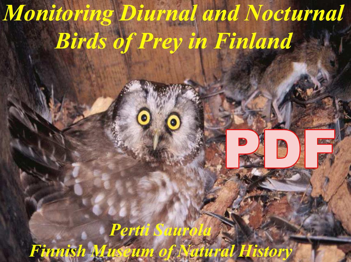 Мониторинг дневных и ночных хищных птиц в Финляндии: методы и популяционные тренды