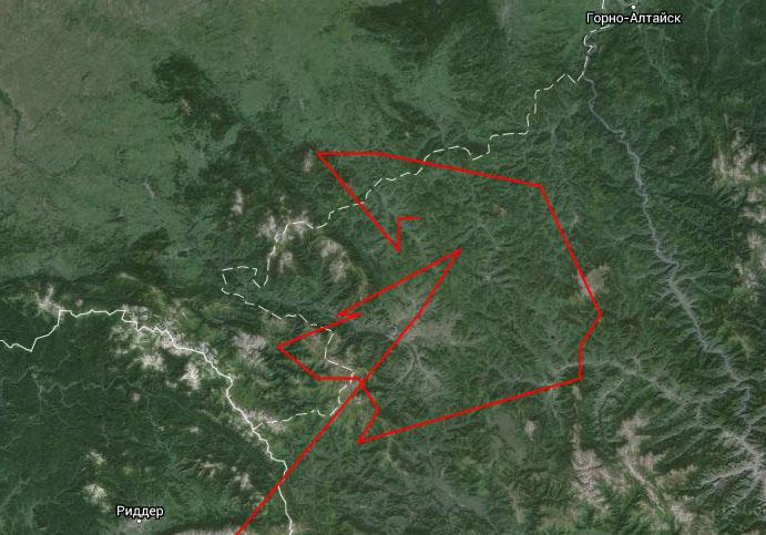 Перемещения Туратая за 1 августа - 17 октября 2014 г.