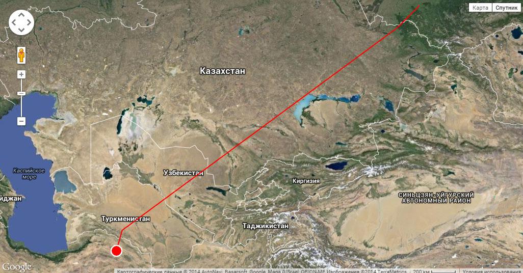 Перемещения Алтая до 20 октября 2014 г.