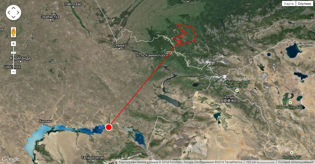 Марш-бросок Туратая за 17-18 октября 2014 г.
