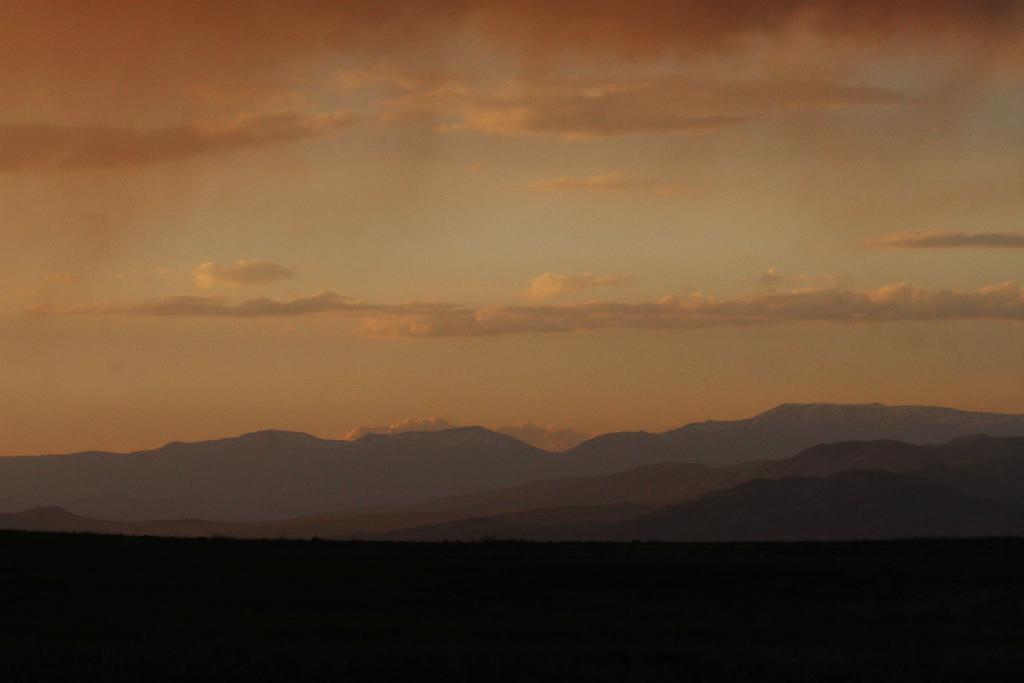 Evening rain in Tuva Depression