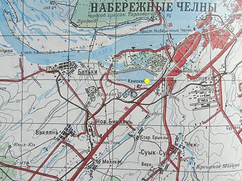 Место разлива мазута обозначено на карте точкой