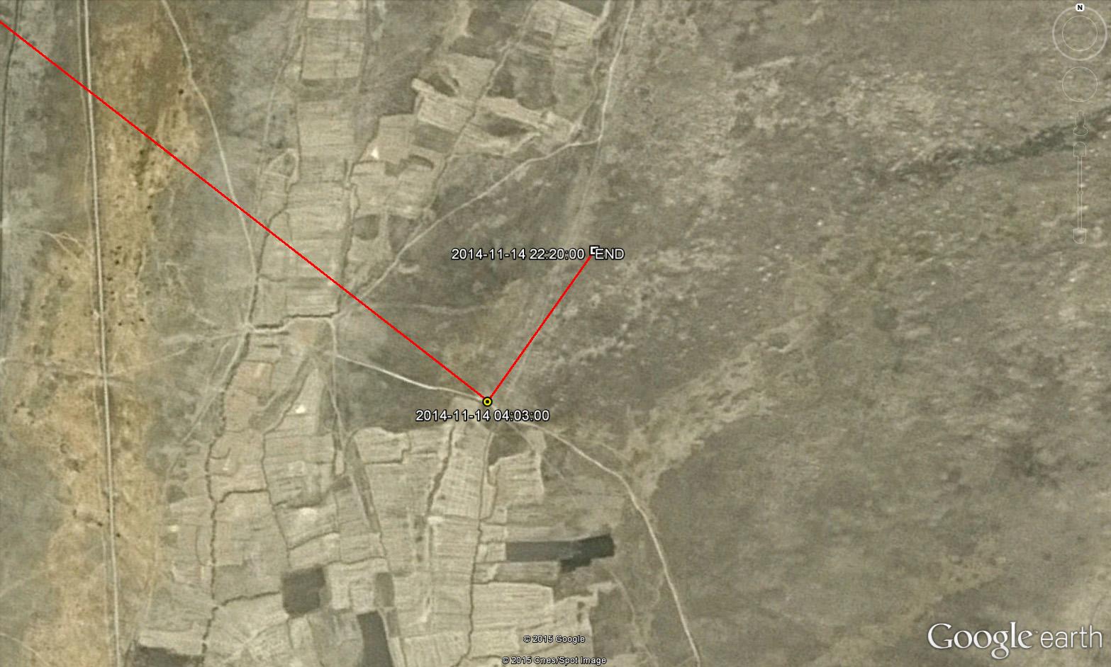 Место последней локации Туратая за 14 ноября 2014 г.