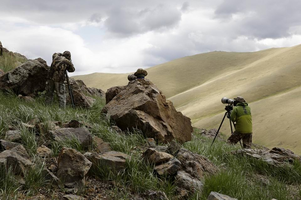 Photographers in the Altai Mountains. Photo by Jinsoo Kim